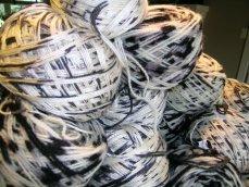 balls of ikat-dyed silk yarn