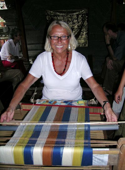 Mary Weaving in Indonesia